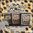 Teacher Binder - Jungle Theme - Teacher Survival Guide