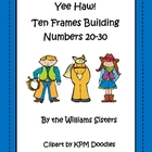 Yee Haw!  Ten Frames Working with Numbers 20-30