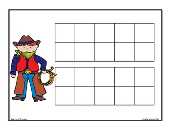 Yee Haw!  Ten Frames Working with Teen Numbers