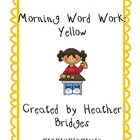 Yellow Morning Word Work