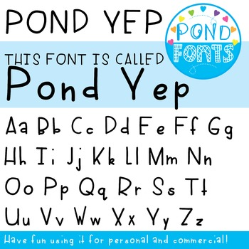 'Yep' Font - For Commercial, Personal and Classroom Use