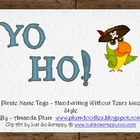 Yo Ho!  Pirate Name Tags (HWT)