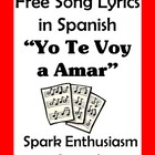 Yo Te Voy a Amar Song Lyrics en espanol / Just The Way You Are