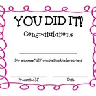 You Did It-Certificate