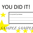 You Did It Reward Certificate - Simple