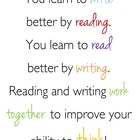 &quot;You Learn to Write by Reading&quot; Quote Poster