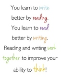 """""""You Learn to Write by Reading"""" Quote Poster"""