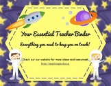 Your Essential Teacher Binder: Classroom Organization Kit