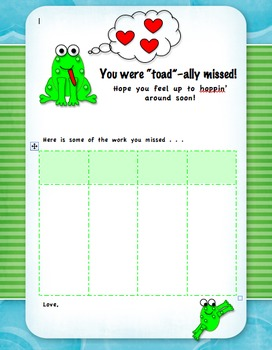 Your Smile Was Missed Work Absent Student Work Page