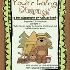 You&#039;re Going Camping- Classroom or Hallway Homophone Hunt 
