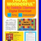 &quot;You&#039;re Wonderful&quot; Digital Download of Song of Self Esteem
