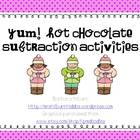 Yum!  Hot Chocolate!  Subtraction Activities