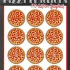 Yummy Pepperoni Pizza Fractions Clip Art Set - 149 Images!!