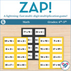 ZAP!! Multi-digit multiplication game!!