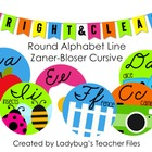 ZB Cursive Round Alphabet Line (Bright & Clear Decor)