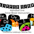 ZB Manuscript Alphabet Line (Flipped Signs)