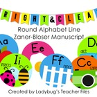 ZB Manuscript Round Alphabet Line (Bright & Clear Decor)