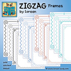 ZIGZAG Frames Clip Art {Swirls, Loops, Solid, Stitched, Dotted}
