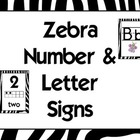 Zebra Alphabet &amp; Numbers
