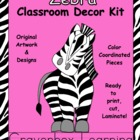 Zebra Classroom Decor Kit