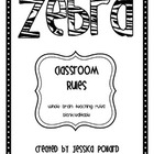 Zebra Classroom Rules Posters {Freebie}