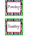 Zebra Day Labels