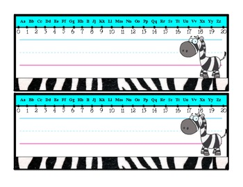Zebra Desk Plates/Name Tags