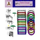 Zebra Escape Digital Graphics, Clip Art