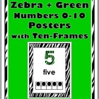 Zebra & Green Number Posters 0-10 with Ten-Frames