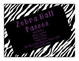Zebra Hall Passes