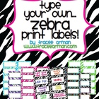 Zebra Labels You Can Customize & Edit