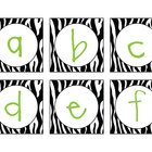 Zebra & Lime Letter Cards (Word Wall)