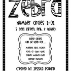 Zebra Number Circles {Freebie}