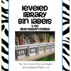 Zebra Number Labels: Leveled Library or Calendar