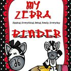 Zebra Organizational Binder Set