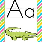 Bright Striped Alphabet