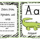 Zebra Print Alphabet Wall Cards with Matching Alphabet Charts