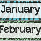 Zebra Print Calendar Months