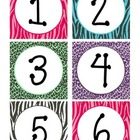 Zebra Print Calendar Numbers