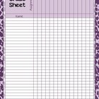 Zebra Print Grade Sheet Series