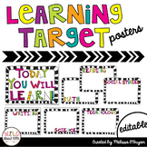 Zebra Print Learning Target Posters