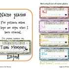 Zebra Print Name Plates with Alphabet Charts