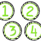 Zebra Print Table group numbers