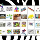 Zebra Theme Word Work Menu (Freebie, NOT endorsed by The2Sisters)