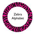 Zebra Themed Alphabet - Round