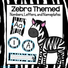 Zebra Themed Numbers, Letters, and Nameplates