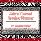 Zebra Themed Teacher Planner