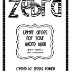 Zebra Word Wall Letters {Freebie}