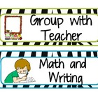 Zebra print Math Center Labels