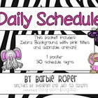 Zebra striped Daily Schedule